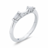 Carizza Baguette Diamond Wedding Band