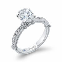 Carizza Bow Detail Diamond Engagement Ring
