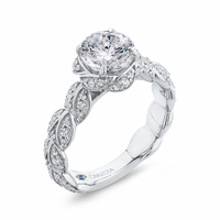 Carizza Braided Diamond Engagement Ring