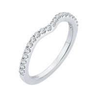 Carizza Curved Diamond Wedding Band