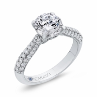 Pave Diamond Engagement Ring by Carizza