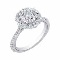 Carizza Halo Engagment Ring