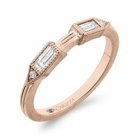 Carizza Rose Gold Diamond Wedding Band