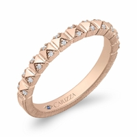Carizza Rose Gold Diamond Wedding Ring