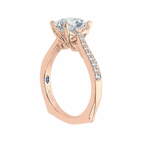 Carizza Rose Gold European Shank Engagment Ring