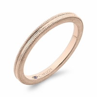 Carizza Rose Gold Wedding Band