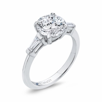 Carizza Three Stone Diamond Engagement Ring