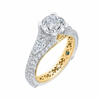 Carizza Two-Tone Diamond Engagment Ring