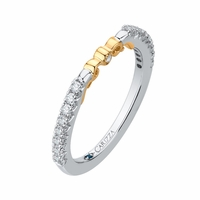 Carizza Two-Tone Diamond Wedding Band