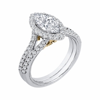 Carizza White Gold Diamond Engagement Ring