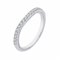 Carizza White Gold Diamond Wedding Band