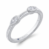 Carizza White Gold Wedding Band