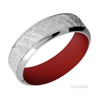 Cobalt Chrome and Gibeon Meteorite Band by Lashbrook Designs