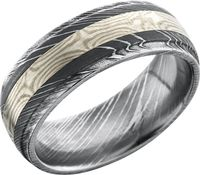 Mokume Gane and Damascus steel Band by Lashbook Designs