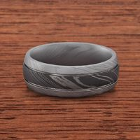 Damascus Steel Band by Lashbrook Designs