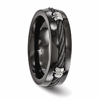 Edward Mirell Black Titanium & Black Titanium Cable Band