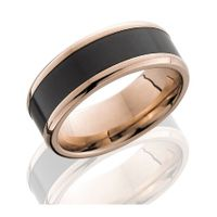 14K Rose Gold and Elysium Wedding Band