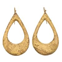"""22k Gold Leaf """"Athena Gold"""" Earrings by Evocateur"""