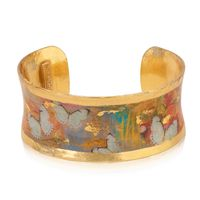 22k Gold Leaf & Enamel Lucy Peveto Stealing Time Corset Cuff by Evocateur