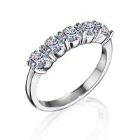 14k White Gold Facets of Fire 5 Diamond Band