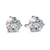 Fire Polish Diamond Stud Earrings - 1.40ctw
