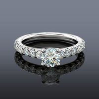 Facets of Fire Diamond Engagement Ring, French Set Style