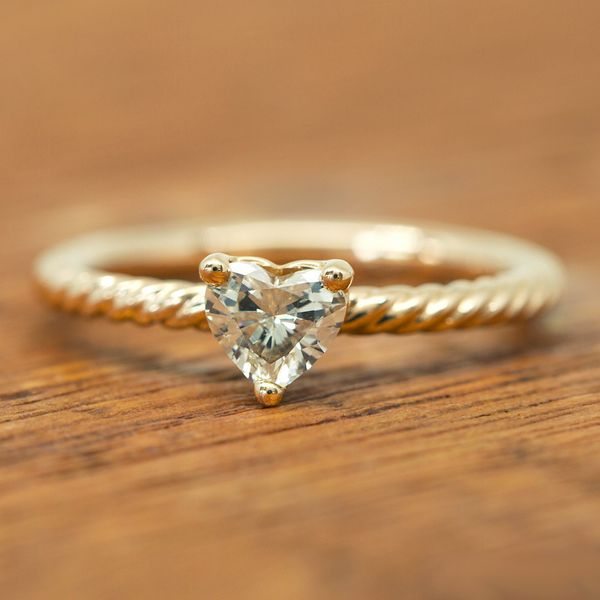 5df124824b8b Heart Shaped Diamond Twist Engagement Ring - Gifts From the Heart ...