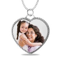 Heart Shaped Rope Picture Pendant