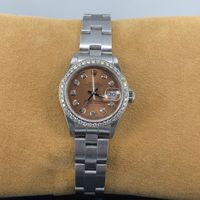 Ladies Stainless Steel Rolex DateJust with Diamonds