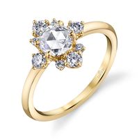 Lumiere Rose Cut Diamond Engagement Ring by Parade
