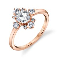 18k Rose Gold and Diamond Engagement Ring by Parade