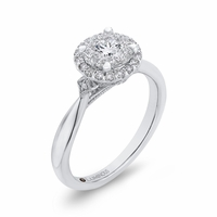 Luminous Diamond Cluster Engagment Ring