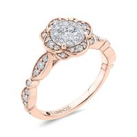 Luminous Diamond Flower Cluster Engagement Ring