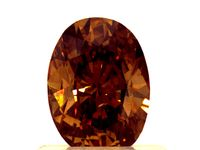 .70ct Oval Shaped Diamond - Fancy Orange Brown