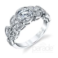 Lyria 18kt White Gold and Diamond Engagement Ring by Parade