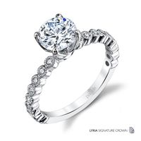 18kt White Gold and Diamond Engagement Ring by Parade, Classic Design