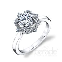 Hemera 18kt White Gold and Diamond Engagement Ring by Parade