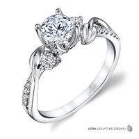 18kt White Gold and Diamond Engagement Ring