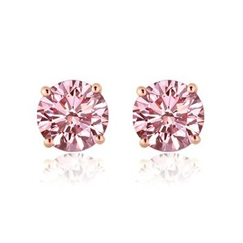 23597af02594d Lab Grown Pink Diamond Earrings - Fancy Pink Diamond Studs
