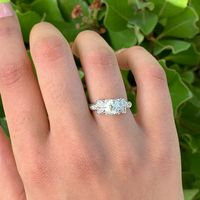 Vintage Platinum and Diamond Engagement Ring with Floral Design and 1ct GIA Diamond
