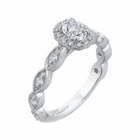 Promezza Scalloped Diamond Engagement Ring