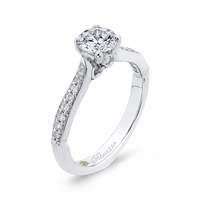 Promezza White Gold Diamond Engagement Ring, Tapered Cathedral Shank