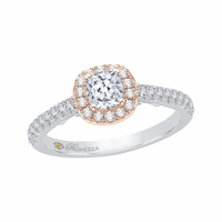 Promezza White Gold Diamond Halo Engagement Ring