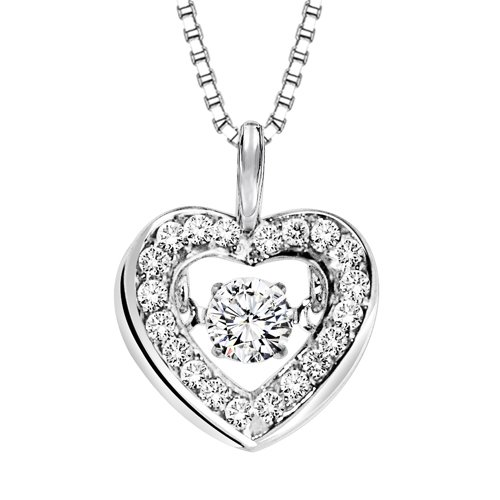 Rhythm of love diamond necklace heart necklace aloadofball Image collections