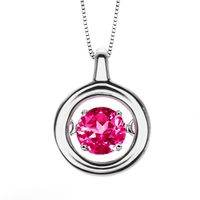 Rhythm Of Love Silver & Pink Tourmaline Pendant