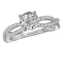 18k White Gold and Diamond Infinity Engagement Ring by Romance