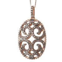 14k Rose Gold & Cognac Diamond Necklace