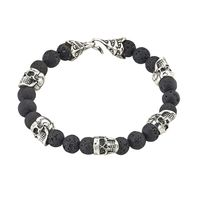 Sterling Silver and Lava Rock Bracelet by Samuel B