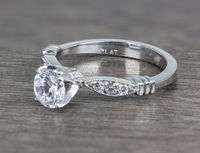Tacori Platinum and Diamond Vintage Style Engagement Ring