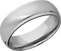 Titanium Band with Grooved Edges by Lashbrook Designs
